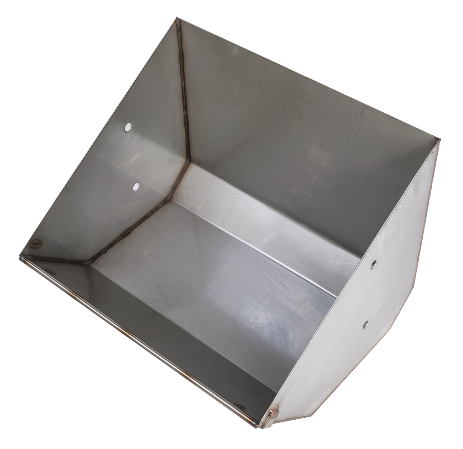 Stainless steel non split trough
